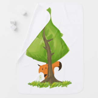 Fox Tree Baby Blanket