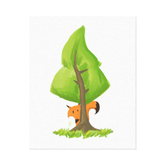 Fox Tree Canvas Print