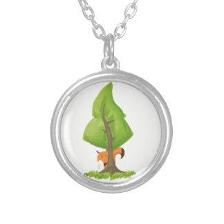 Fox Tree Silver Plated Necklace