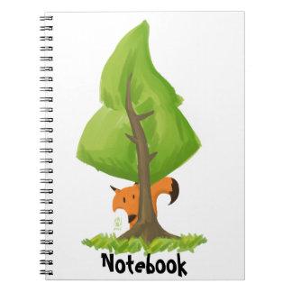 Fox tree spiral note books