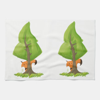 Fox Tree Tea Towel