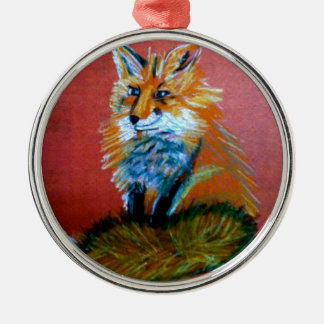 Fox Trot Silver-Colored Round Decoration