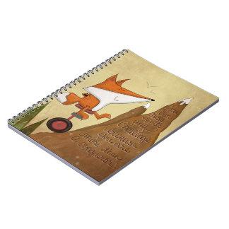 Fox Unicyclist-More Than a Conqueror Notebook