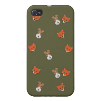 Fox vs Fox terrier iPhone case Cover For iPhone 4