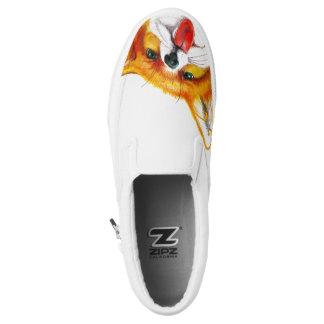 Fox Watercolor Printed Shoes