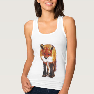 Fox Watercolor Tank Top