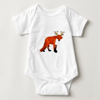 Fox Watercolour Baby Bodysuit