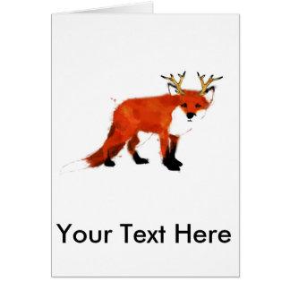 Fox Watercolour Card