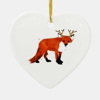 Fox Watercolour Christmas Ornament