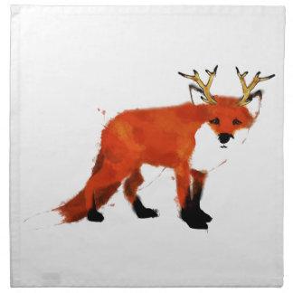 Fox Watercolour Napkin
