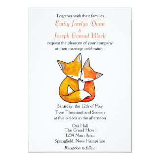 Fox Wedding Invitation Custom Wedding Invitation