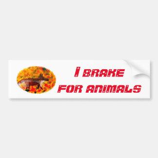 Fox Wild Animal Art Bumper Sticker