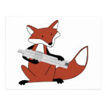 Fox with a Slide Rule Postcard