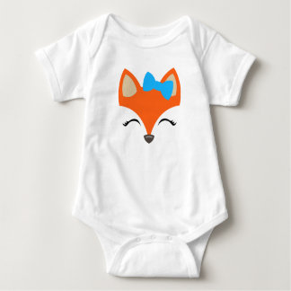 Fox with Bow bodysuit for Baby