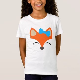 Fox with Bow tee for Kids