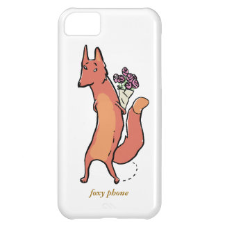 fox with flowers iPhone 5C cases