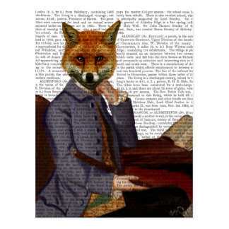 Fox With Flute 2 Postcard