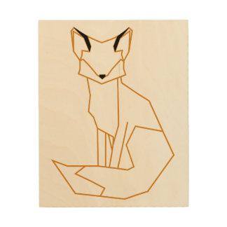 fox wood wall decor