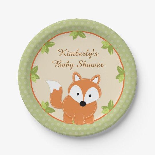 Fox Woodland Baby Shower Paper Party Plates  sc 1 st  Zazzle & Fox Woodland Baby Shower Paper Party Plates | Zazzle.co.uk