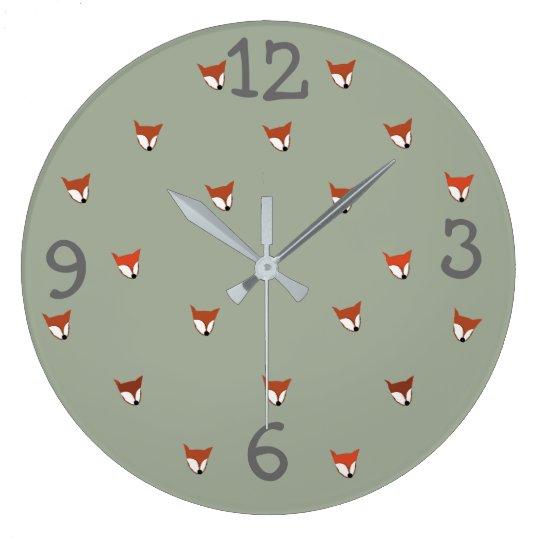 Fox Woodland Creature Large Clock