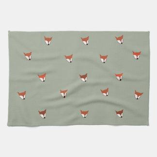 Fox Woodland Creature Tea Towel