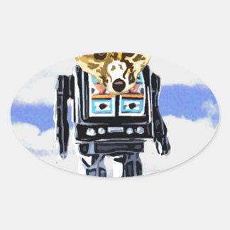 FoxBot 200 Oval Sticker