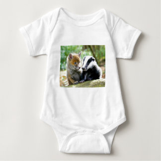 Foxcub & Badger Cute! Baby Bodysuit