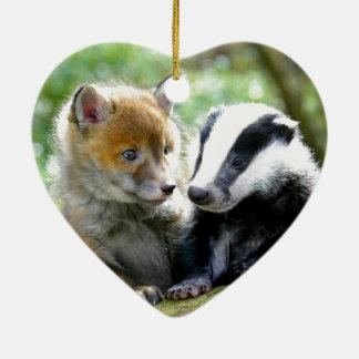 Foxcub & Badger Cute! Christmas Ornament