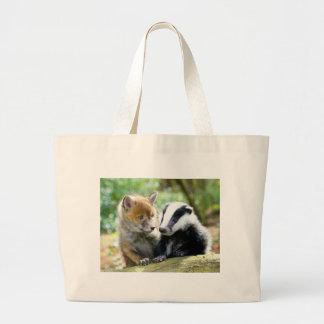 Foxcub & Badger Cute! Large Tote Bag