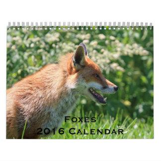 Foxes 2016 Calendar