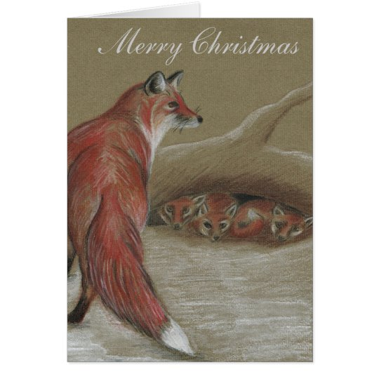 Foxes British Wildlife Christmas cards