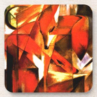 Foxes by Franz Marc Fine Art Coaster