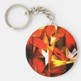 Foxes by Franz Marc Fine Art Key Ring