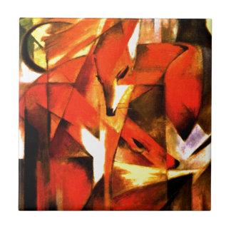 Foxes by Franz Marc Fine Art Tile