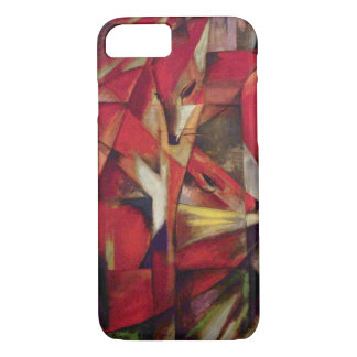Foxes by Franz Marc, Vintage Abstract Cubism Art iPhone 7 Case