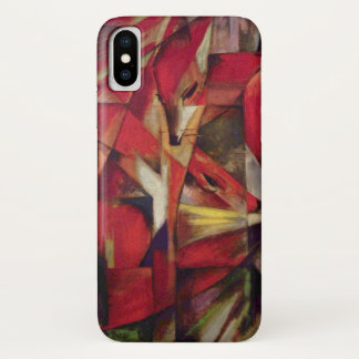 Foxes by Franz Marc, Vintage Abstract Cubism Art iPhone X Case