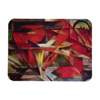 Foxes by Franz Marc, Vintage Abstract Cubism Art Rectangular Photo Magnet