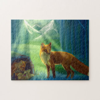Foxes in the forest jigsaw puzzle