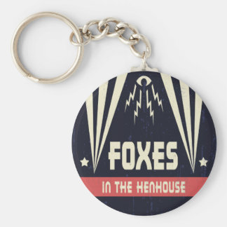 Foxes in the Henhouse Keychain