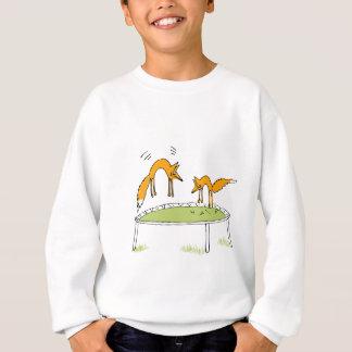 Foxes on Trampoline Sweatshirt