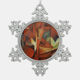 Foxes Pewter Snowflake Decoration