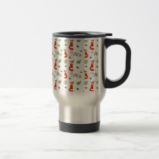 Foxes Stainless Steel Travel Mug