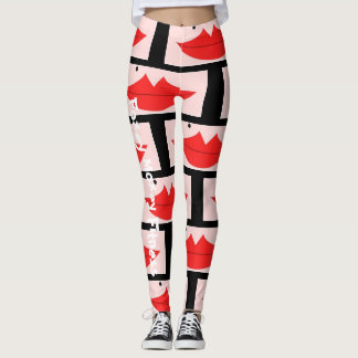 Foxey Moxey Fitness Lip Leggings