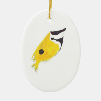 Foxface Rabbitfish Christmas Ornament