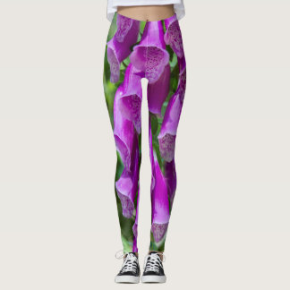 Foxglove Flowers Leggings