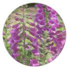 Foxglove Flowers Plate