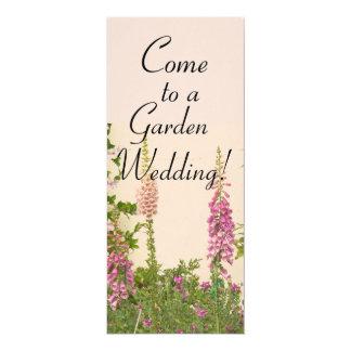 Foxglove Garden Wedding Invitation