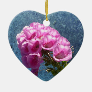 Foxglove with texture reaching for the sky. ceramic heart decoration