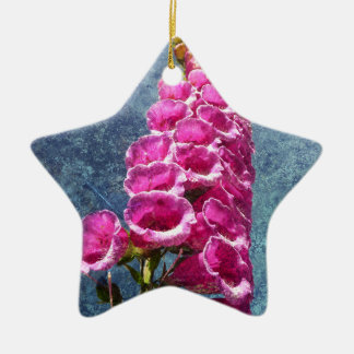 Foxglove with texture reaching for the sky. christmas ornament