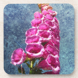 Foxglove with texture reaching for the sky. drink coaster